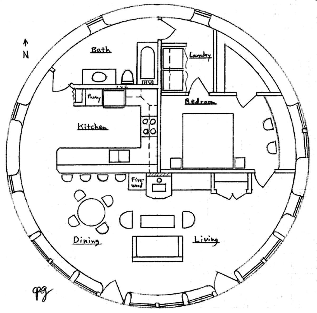 plan de maison ronde