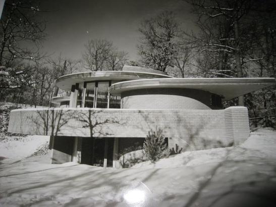 Maisons - Mayes house - Don Erickson - 1954 - Glen Ellyn - Illinois - USA (détruite) - photo 03